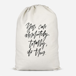 You Can Absolutely, Totally, Do This Cotton Storage Bag
