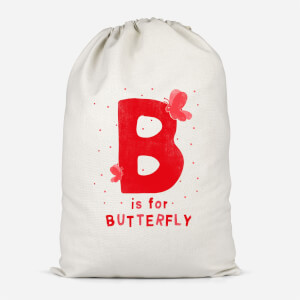 B Is For Butterfly Cotton Storage Bag