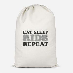 Eat Sleep Ride Repeat Cotton Storage Bag