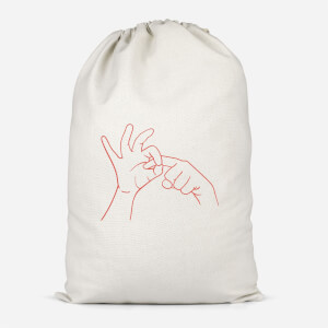 Sexy Hand Gesture Cotton Storage Bag