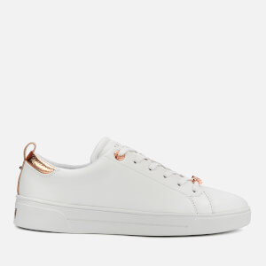 Ted Baker Women's Gielli Leather Low Top Trainers - White/White