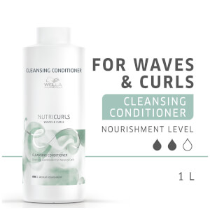 Wella Professionals Nutricurls Cleansing Conditioner for Waves and Curls 1000ml: Image 3