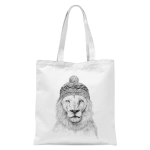 Lion With Hat Tote Bag - White