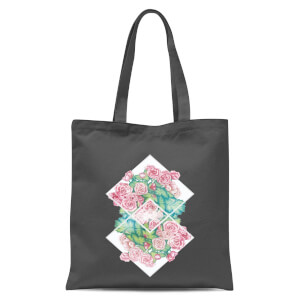 Flowers Tote Bag - Grey