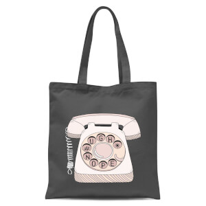 Phone Call Tote Bag - Grey