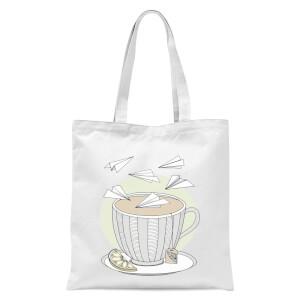 Teatime Tote Bag - White