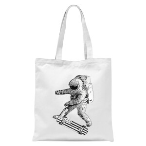 Kickflip In Space Tote Bag - White