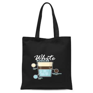 Infographic White Russian Tote Bag - Black
