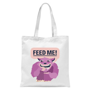 Feed Me Tote Bag - White