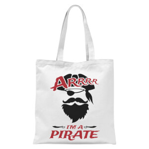 Arrrr Im A Pirate Tote Bag - White