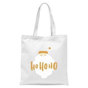 Christmas Santa Ho Ho Ho Tote Bag - White