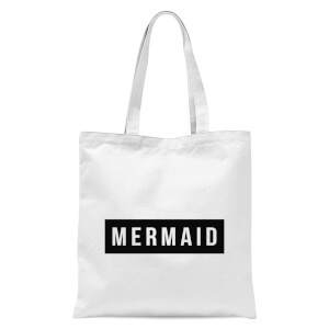 Mermaid - Baby Blue Tote Bag - White