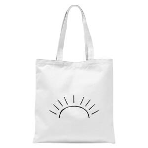 Sun Linework Tote Bag - White