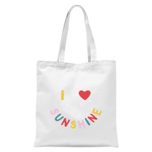 I Love Sunshine Tote Bag - White