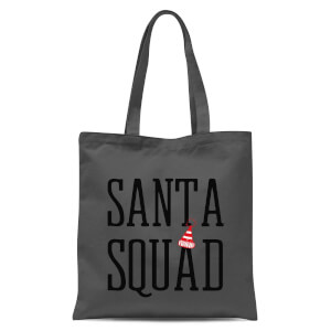 Santa Squad Tote Bag - Grey
