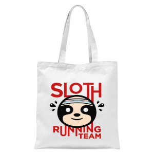 Sloth Running Team Tote Bag - White