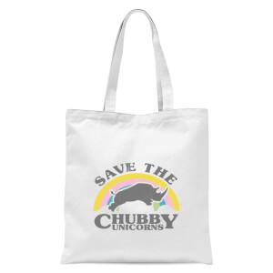 Save The Chubby Unicorns Tote Bag - White