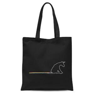 Unicorn Skid Mark Tote Bag - Black