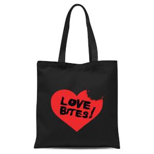 Love Bites Tote Bag - Black