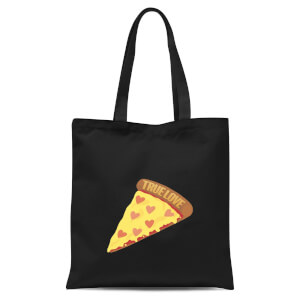 True Love Pizza Tote Bag - Black