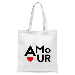 Amour Block Tote Bag - White