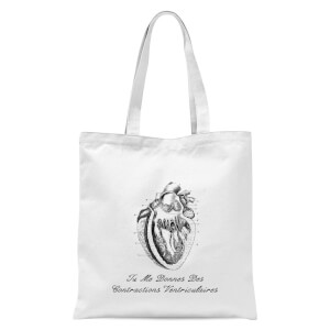 Premature Ventricular Contractions (FR) Tote Bag - White