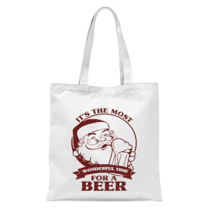 The Most Wonderful Time For A Beer Tote Bag - White