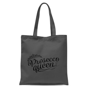 Prosecco Queen Tote Bag - Grey