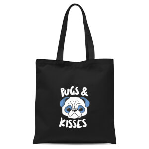 Pugs & Kisses Tote Bag - Black