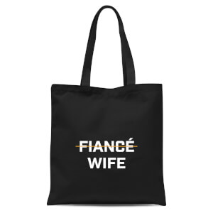 Fiance Wife Tote Bag - Black