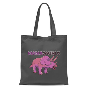 Mama Saurus Tote Bag - Grey