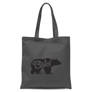 Baby Bear Tote Bag - Grey