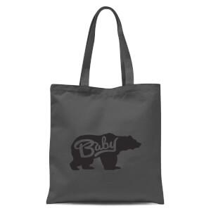 Baby Bear Tote Bag - Grey