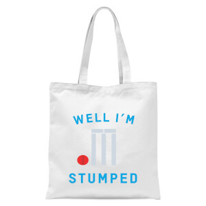 Well Im Stumped Tote Bag - White