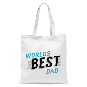 Worlds Best Dad Tote Bag - White