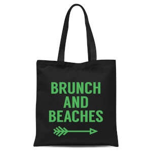 Brunch And Beaches Tote Bag - Black
