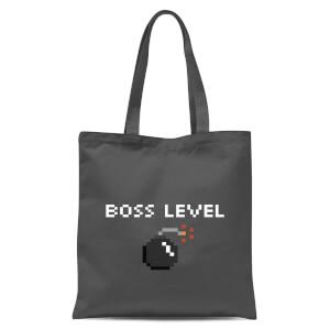 Boss Level Gaming Tote Bag - Grey