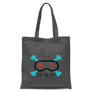Skull And Cross Bones Controller Tote Bag - Grey