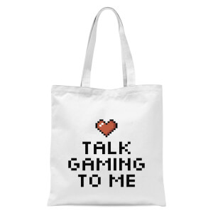 Talk Gaming To Me Tote Bag - White