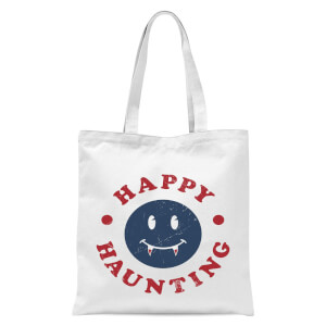 Happy Haunting Fang Tote Bag - White