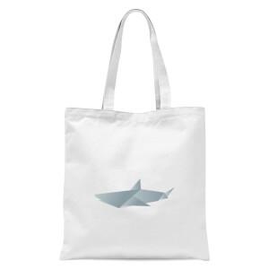 Origami Shark Tote Bag - White