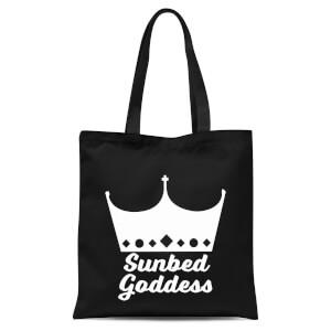 Sunbed Goddess Tote Bag - Black