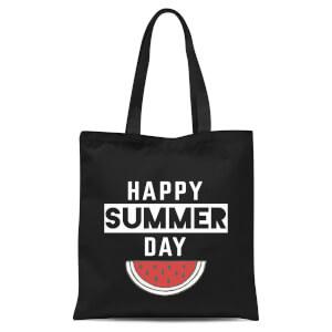 Happy SUmmer Day Tote Bag - Black