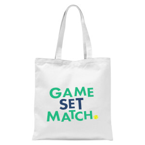 Game Set Match Tote Bag - White