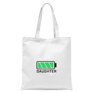 Daughter Batteries Full Tote Bag - White