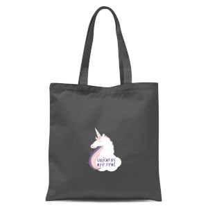 Unicorns Are Real Tote Bag - Grey