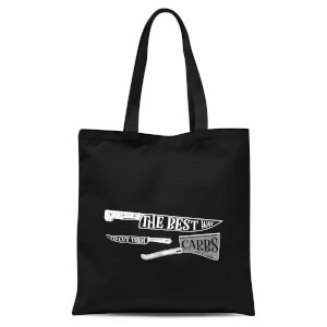 The Best Way To Cut Them Carbs Tote Bag - Black