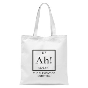 Ah The Element Of Surprise Tote Bag - White