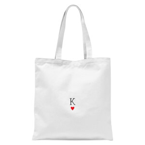 International Women's Day King Of Hearts Tote Bag - White