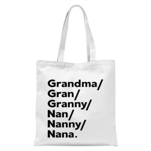International Women's Day Gran's And Nan's Tote Bag - White